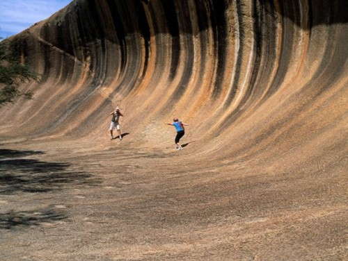 Image: Pathways to wave rock
